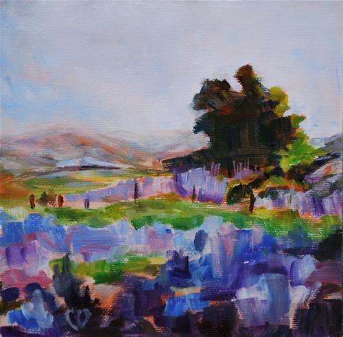 "Daily Paintworks - ""Lavender Fields Forever"" by Carol DeMumbrum"