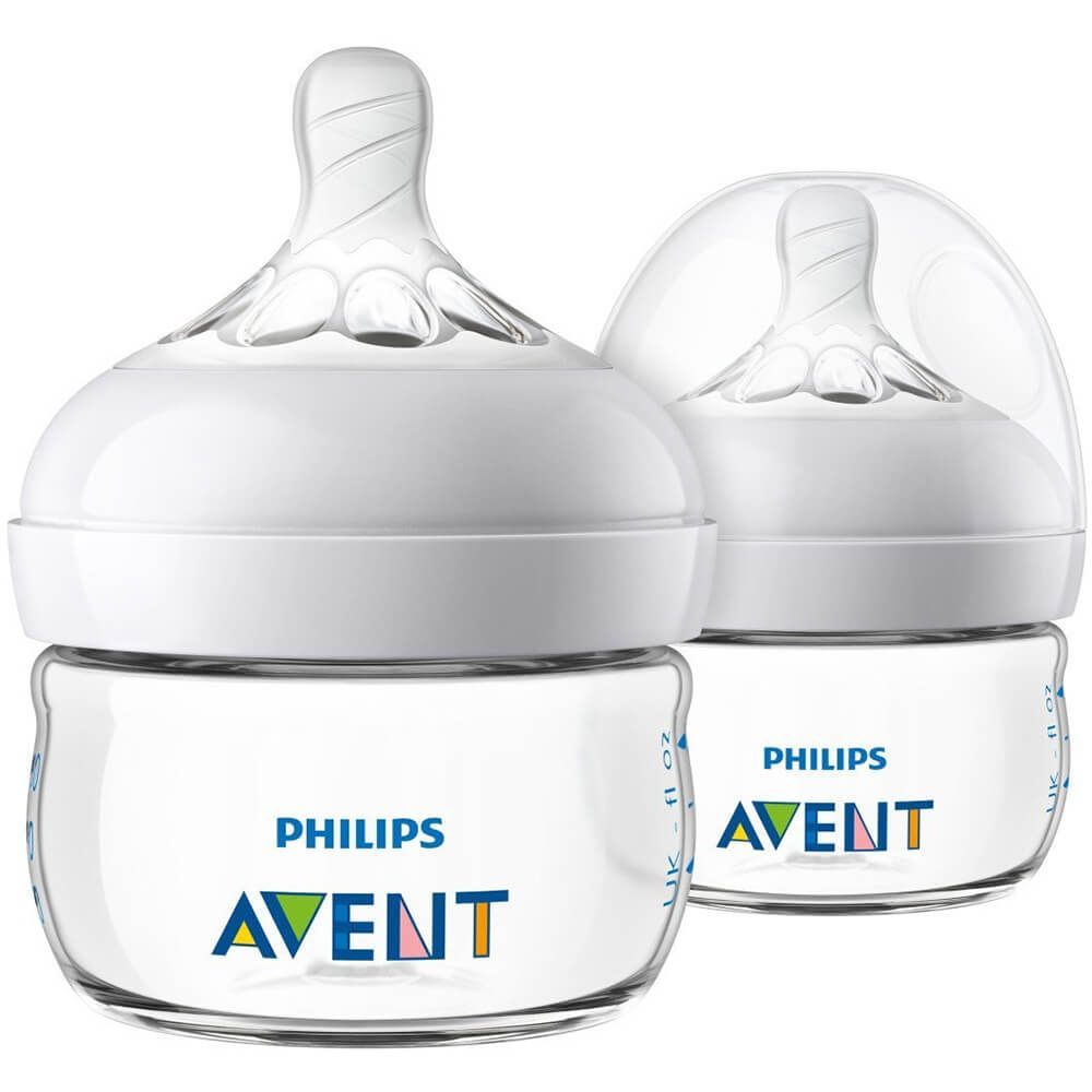 2 Pack Philips Avent BPA Free Natural Anti-Colic 2oz Baby Bottle