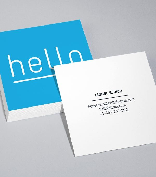Cartes De Visite Carres Business Card Designs