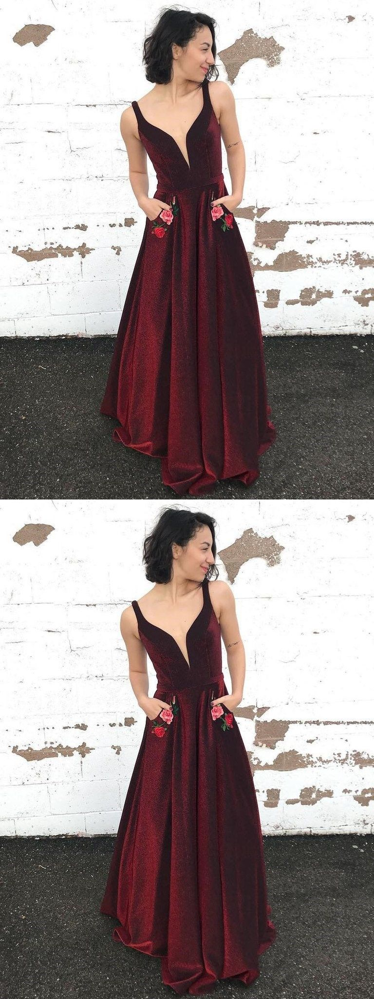 long prom dressburgundy straps floral long prom dresses