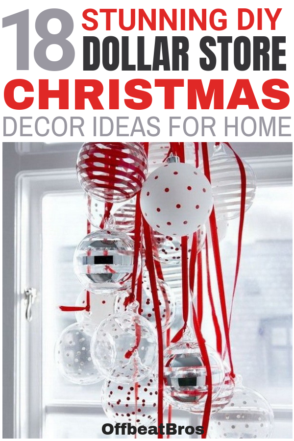 Photo of 18 Stunning Dollar Store Christmas Decorations for Any Budget