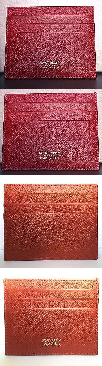 Business and Credit Card Cases 105860: Giorgio Armani Red Calf ...