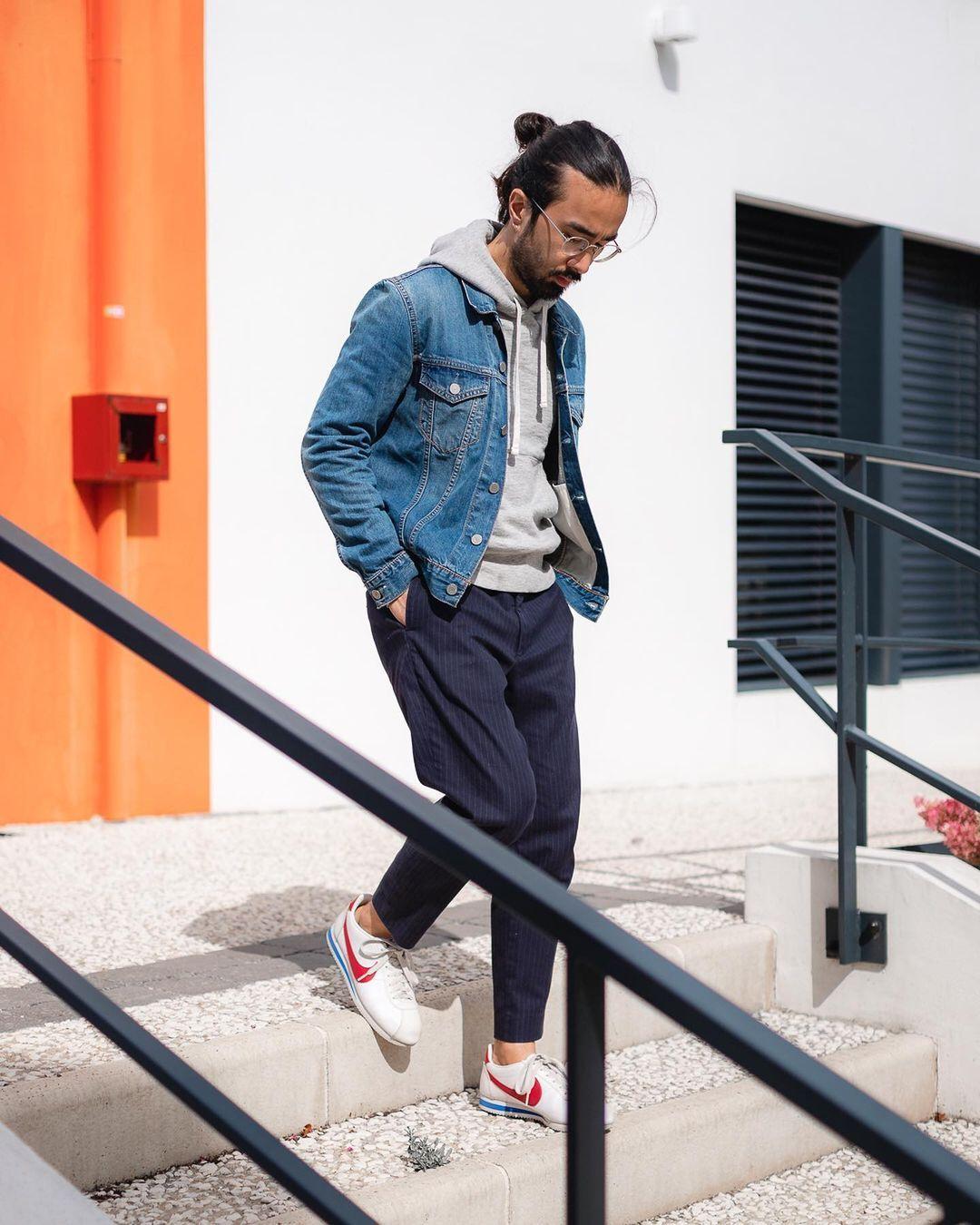 Tim Dessaint On Instagram One Of My Go To Ways To Wear A Denim Jacket Is The Classic Hoodie Deni Denim Jacket Minimalist Fashion Men Denim Jacket With Hoodie [ 1350 x 1080 Pixel ]