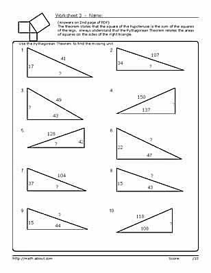 Get An Explanation Of Pythagoreanu0027s Theorem, Plus Use These Geometry  Worksheets To Help You Practice