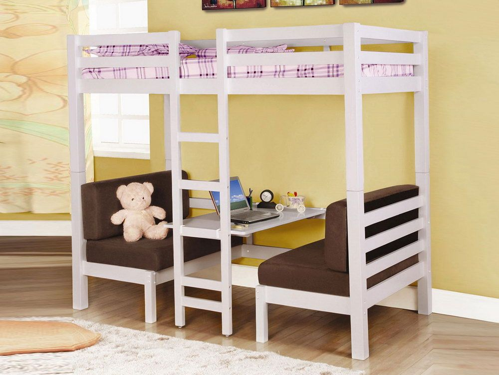 Bunk Bed With Double Sofa Bed Underneath Convertible Loft Bed Loft Bunk Beds Kids Loft