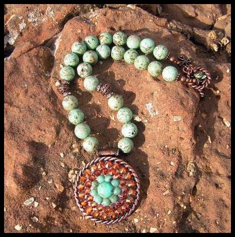 3e3f38ad5d45 Serena Turquoise and Copper Necklace-cowgirl jewelry