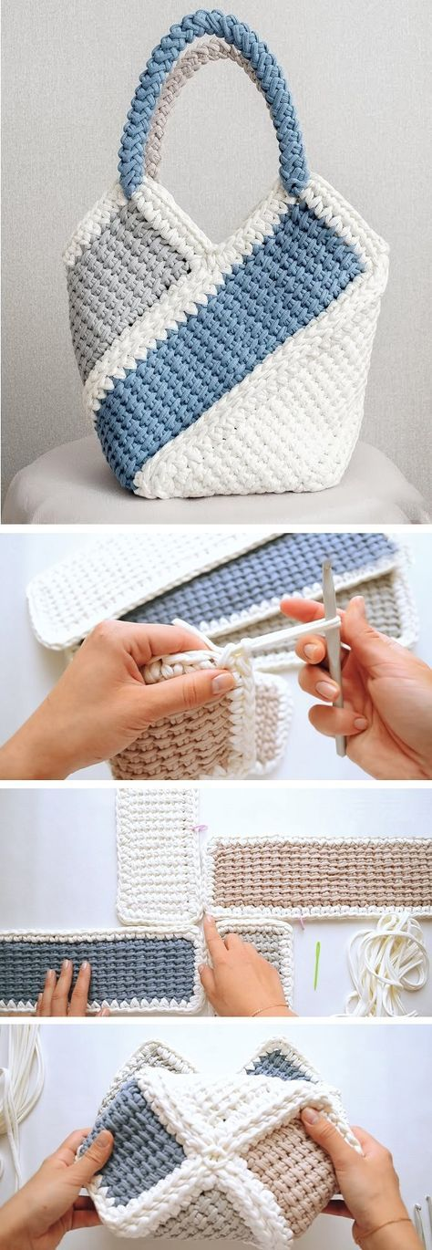 Pretty Bag Crochet Tutorial #bags