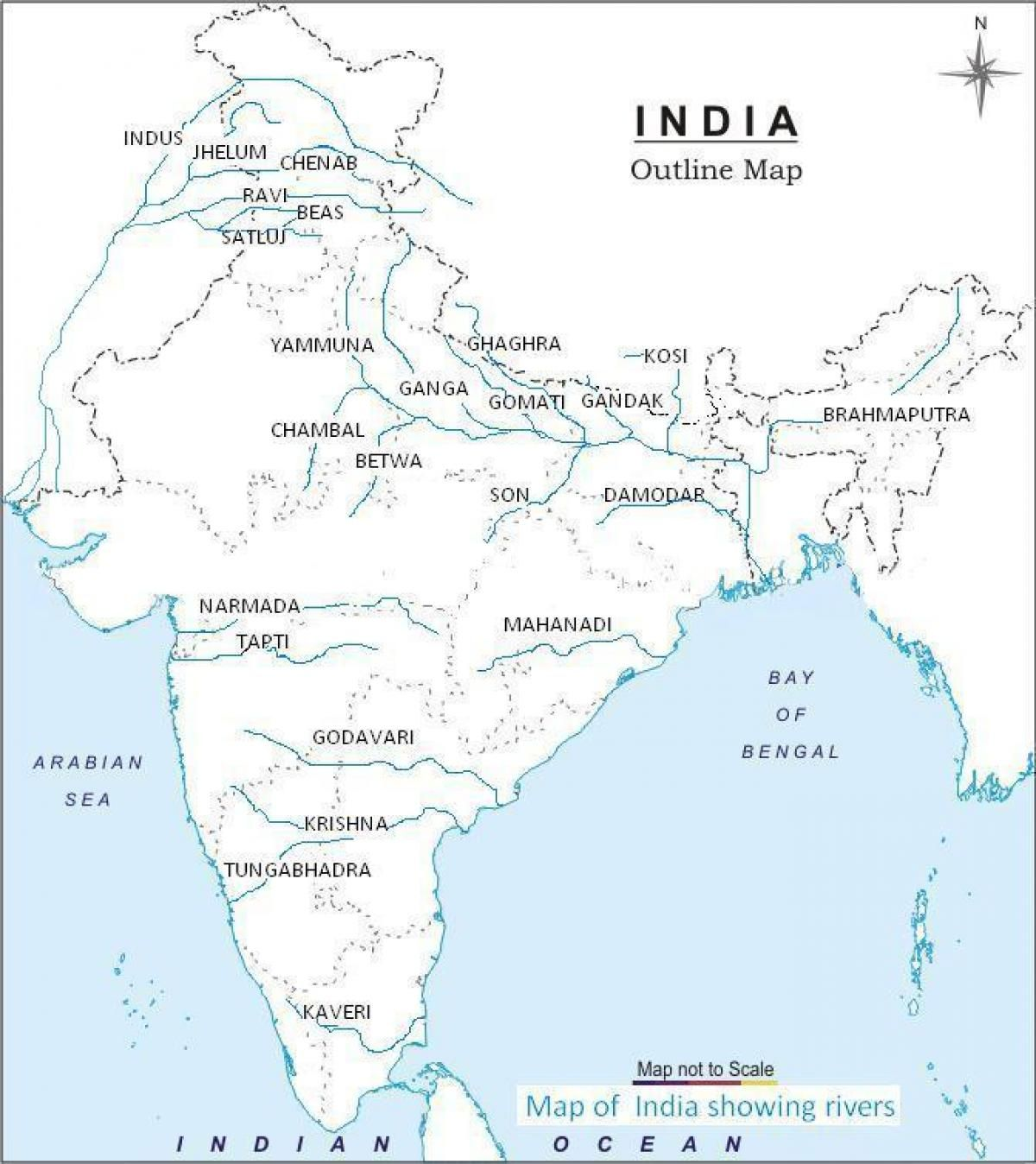 River Map Of India India Map A4 Size Hd India River