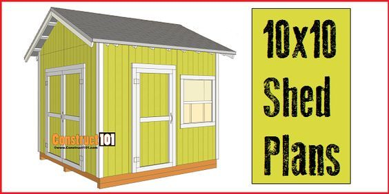 Shed Plans 10x10 Gable Shed Pdf Download Construct101 10x10 Shed Plans Shed Plans Free Shed Plans