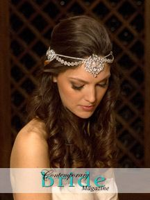 hairstyle with headpiece - Google Search | hair | Pinterest ...