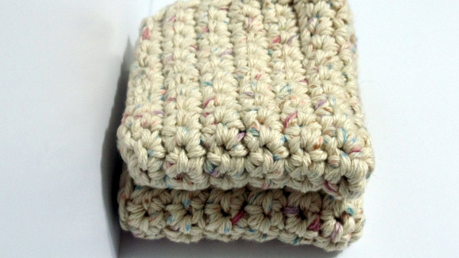 Country Specks Crochet Dish Cloth Hot Pad Pot Holder Cotton set of two