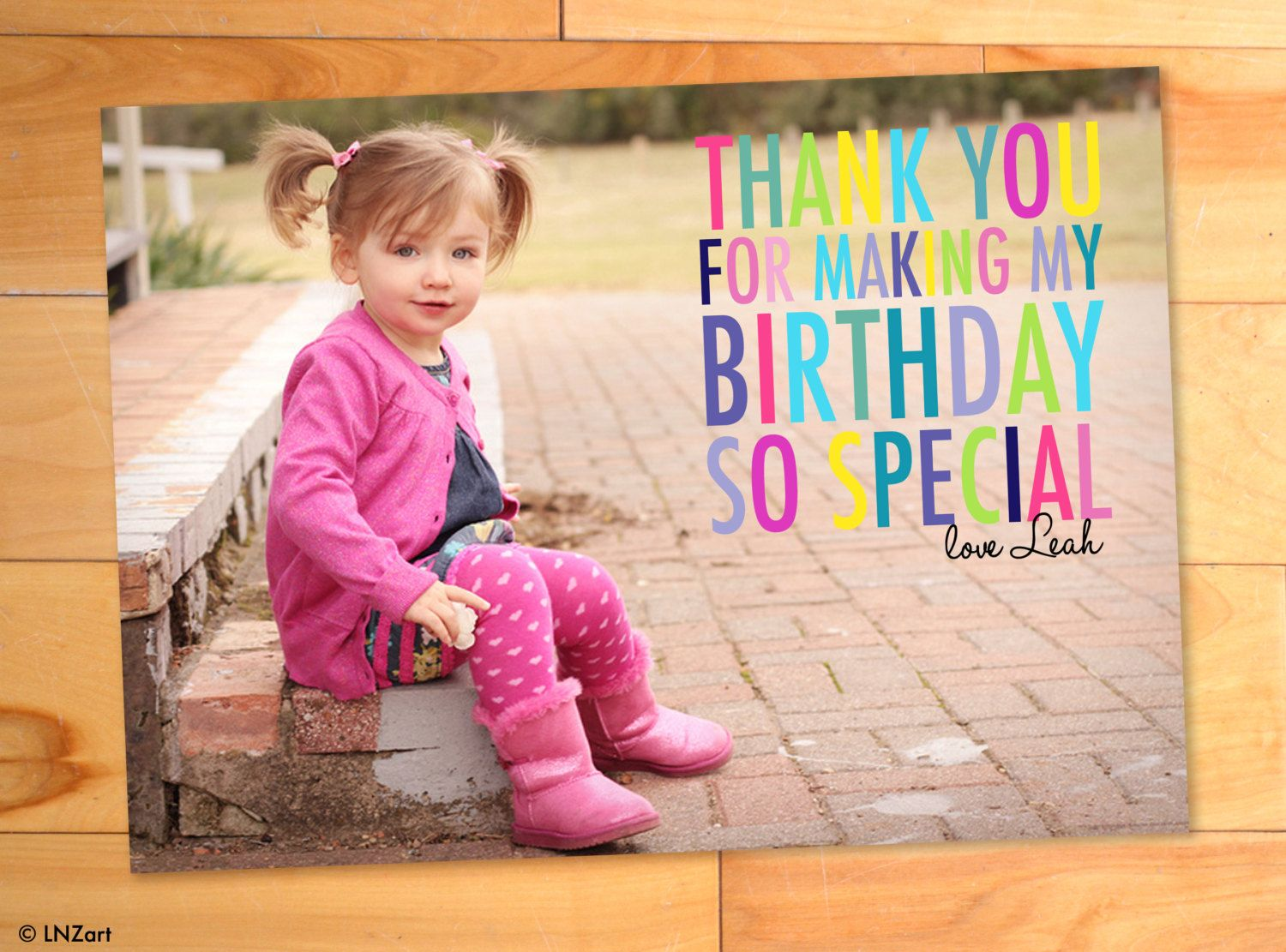 Kids Birthday Thank You Thank You Photo Cards kids thank you – First Birthday Thank You Cards