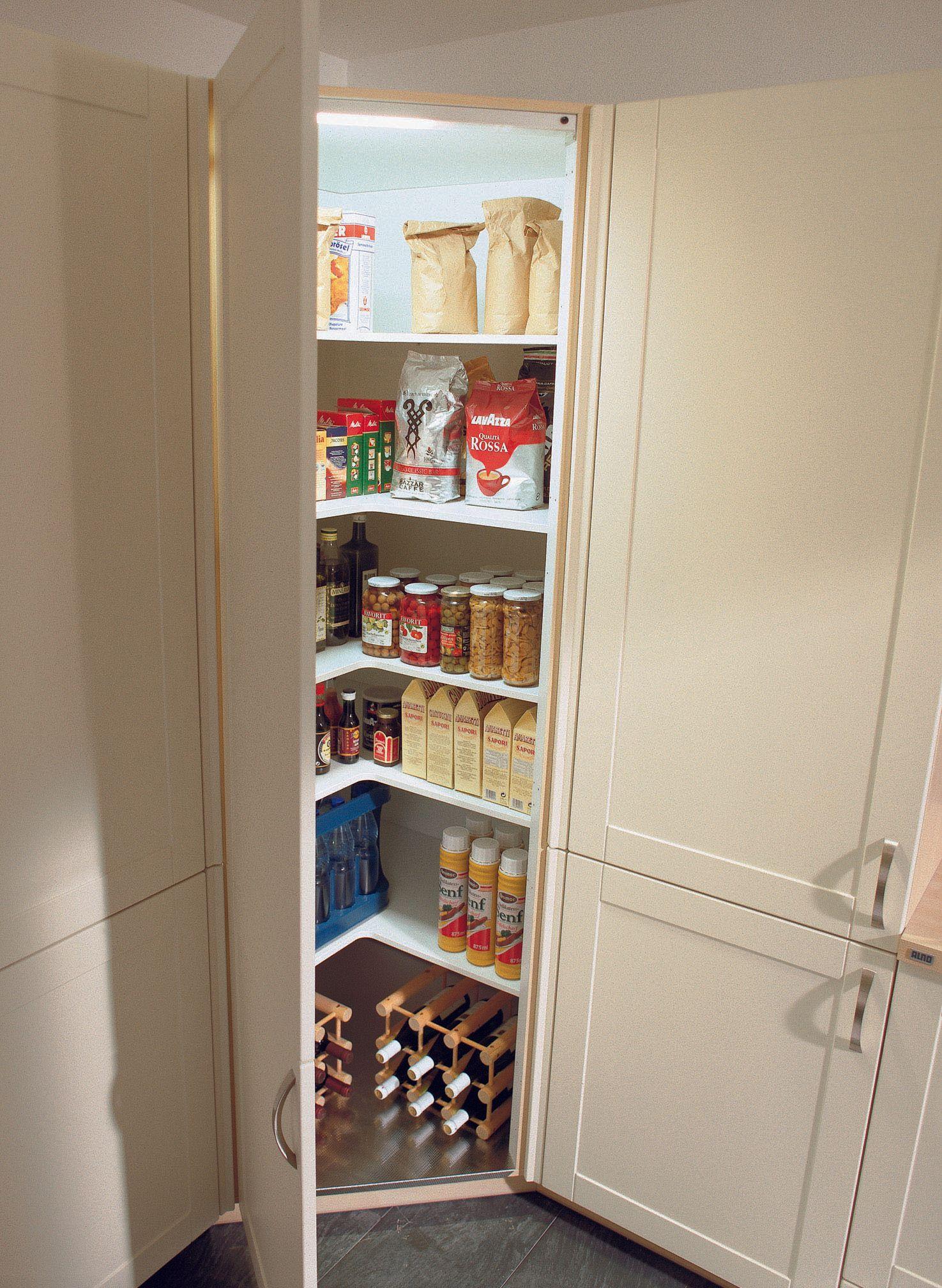 Photo of I mobili alti possono anche essere collocati in cucina in un angolo. Questo diagonale …