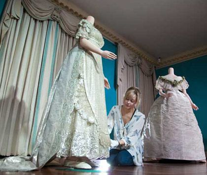 Princess Charlotte\'s wedding dress (1816) - A conservator puts ...