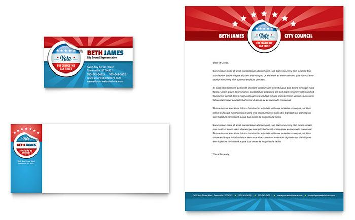 Political candidate business card and letterhead design template by political candidate business card and letterhead design template by stocklayouts colourmoves