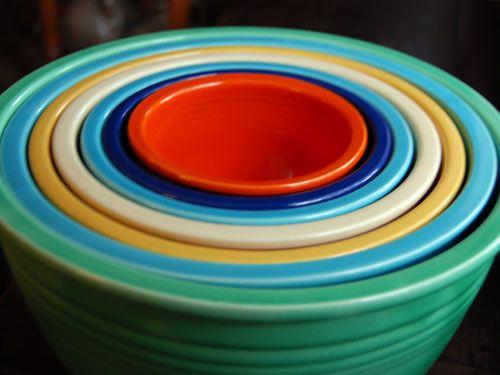 fiestaware | FIESTA BOWL: Fiesta Nesting Mixing Bowl | Number 2 ...