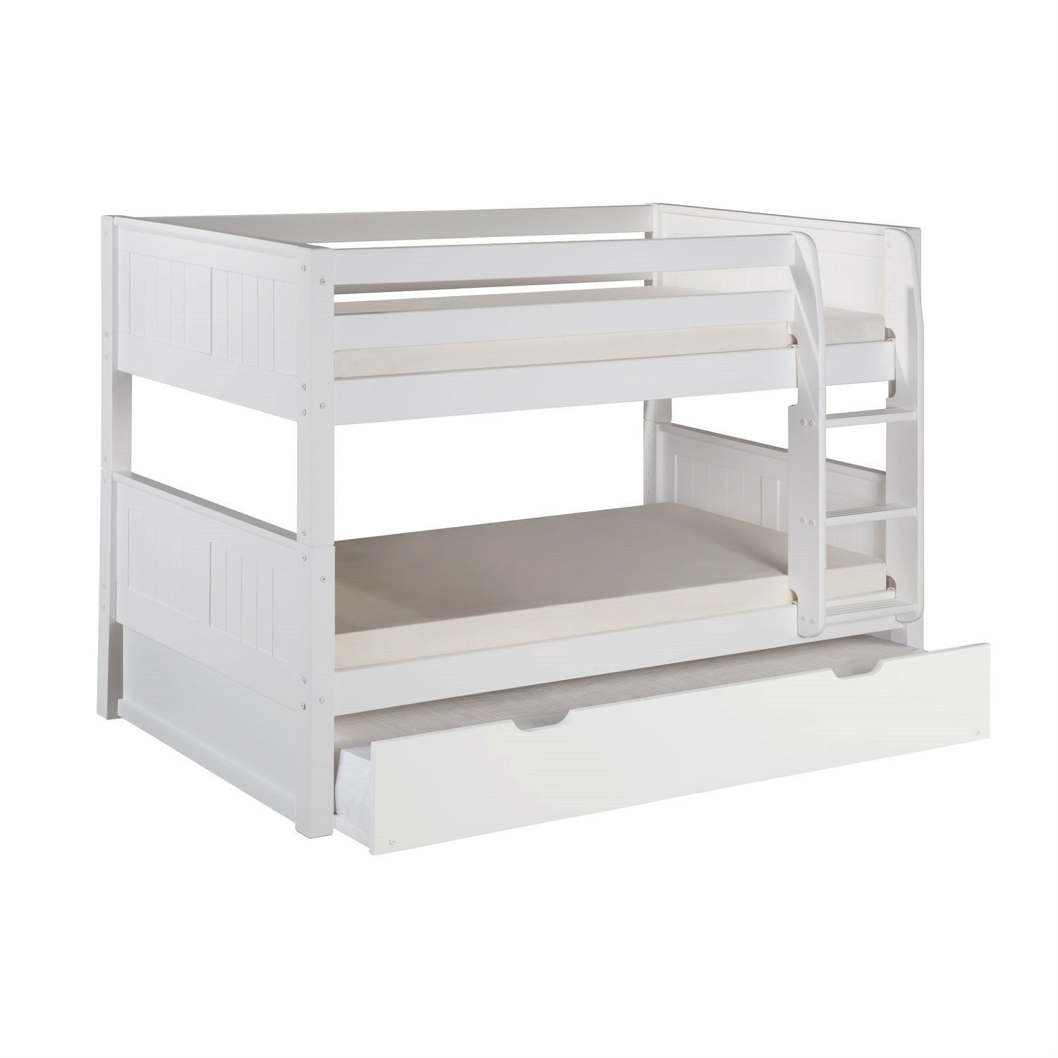 Best Modern Solid Wood Twin Over Twin Bunk Bed With Bottom 400 x 300