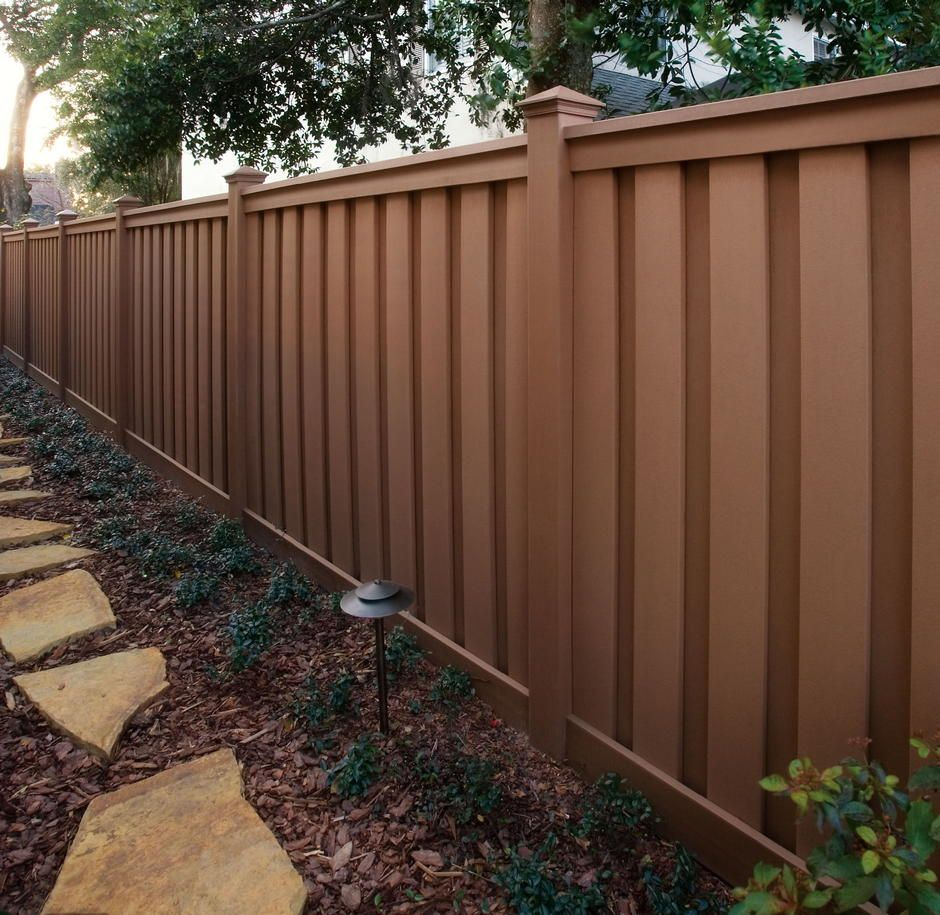 cost to stain a 48 linear ft fence wpc fence pinterest