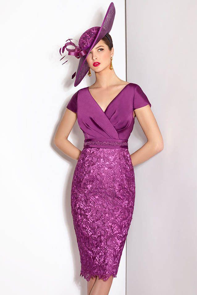 Vestido de madrina con falda en guipur modelo 5006467 de Cabotine by ...