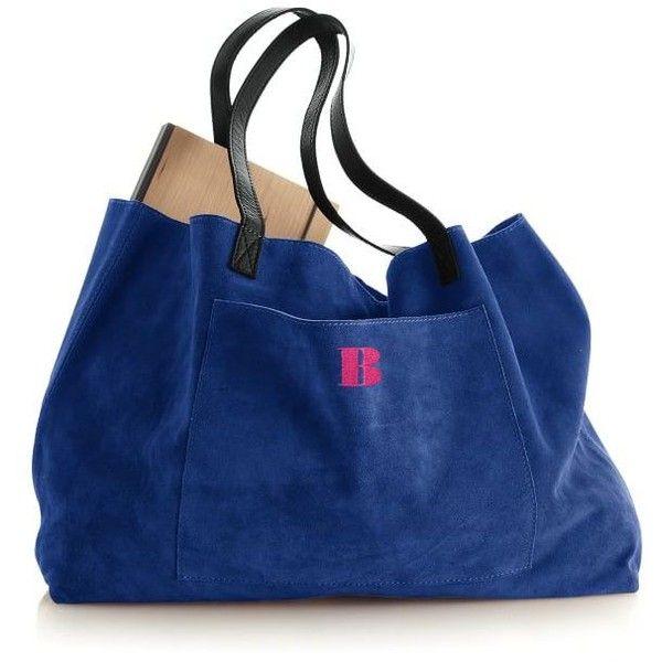 Suede Boho Bag Bright Colors 149 Liked On Polyvore Featuring Bags Handbags Tote Blue Purse Handbag