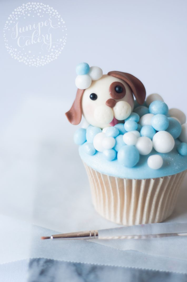 How To Make Cute Dog Cupcakes Free Tutorial On Craftsy 6 3 16