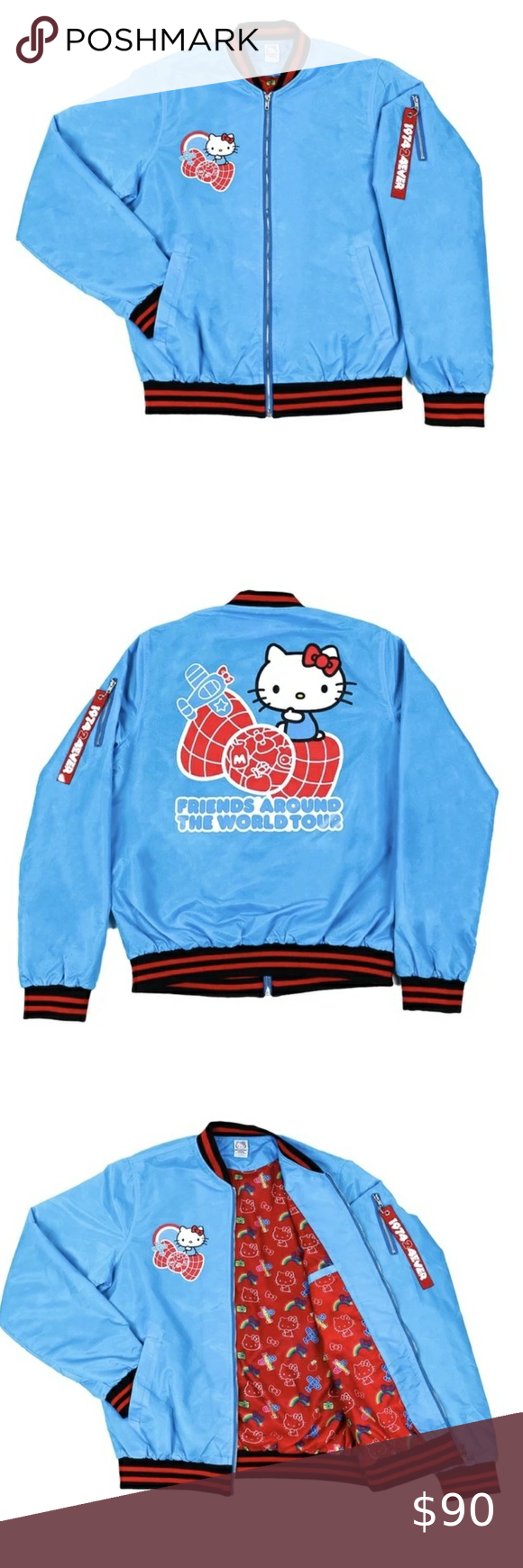 Hello Kitty Bomber Jacket Sanrio Jacket Bomber Jacket Jackets [ 1740 x 580 Pixel ]