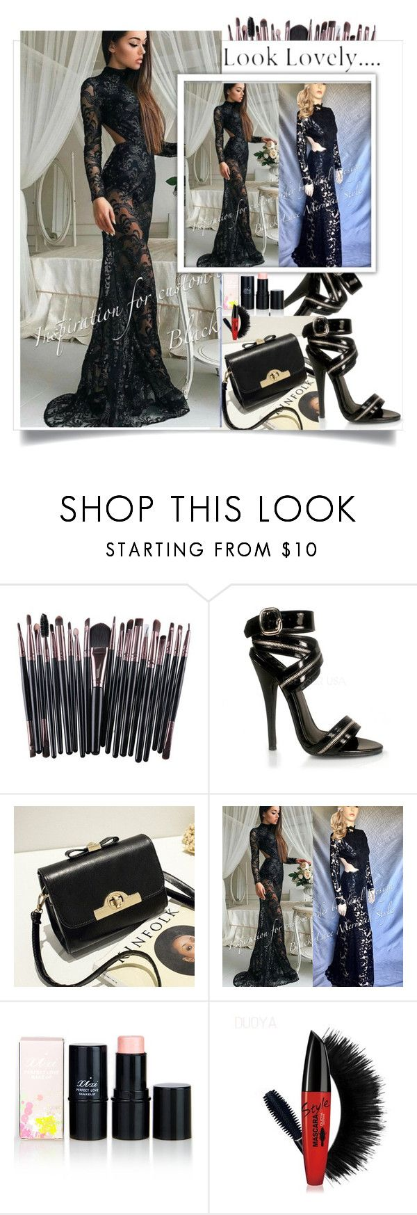 """""""Vanel Design  10"""" by k-lole ❤ liked on Polyvore featuring Pleaser, dress, Trendy, Elegance and styleicon"""