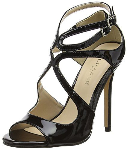 Pleaser Women's Amu15/B dress Sandal, Black Patent, 11 M US * Check