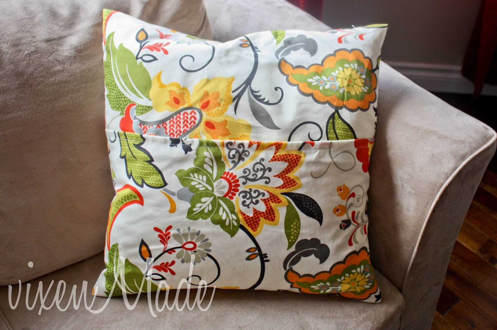 Vixenmade simple pillow cover tutorial living room color and