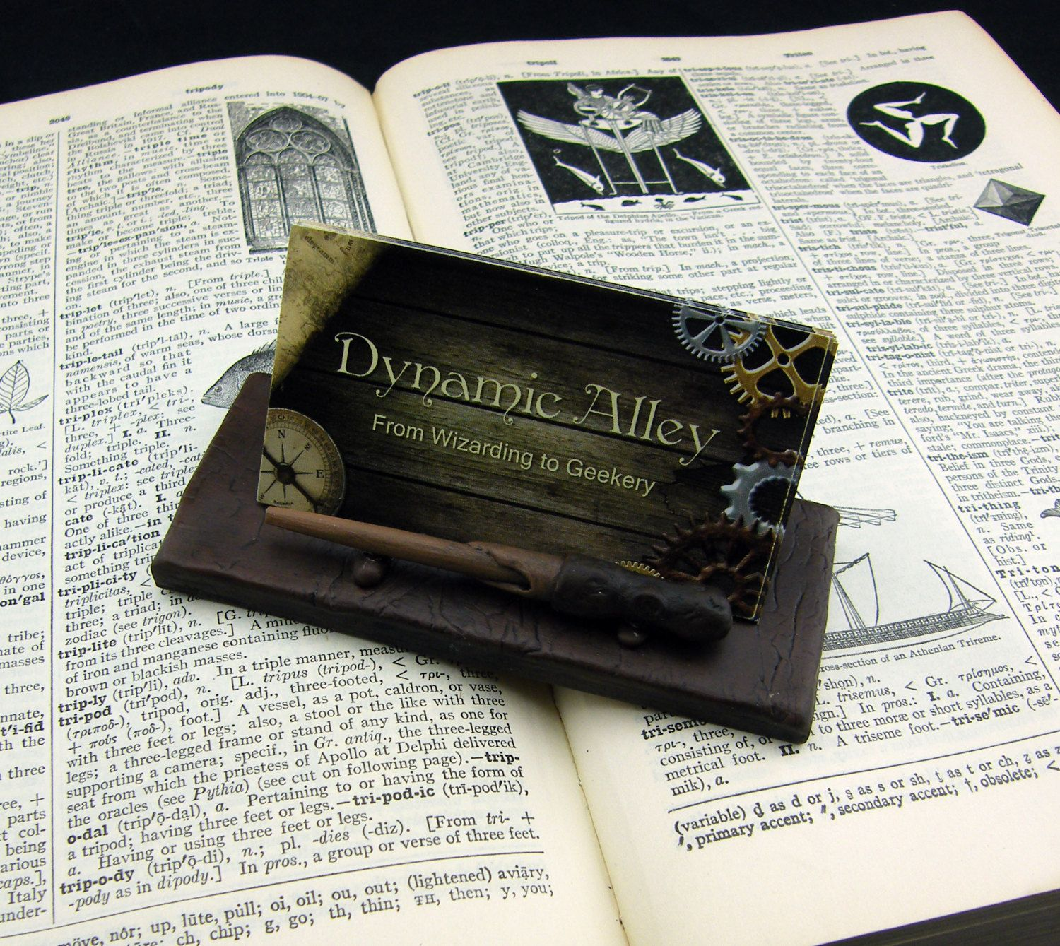 Wizard wand magic wand polymer clay business card holder by wizard wand magic wand polymer clay business card holder by dynamicalley magicingreecefo Images