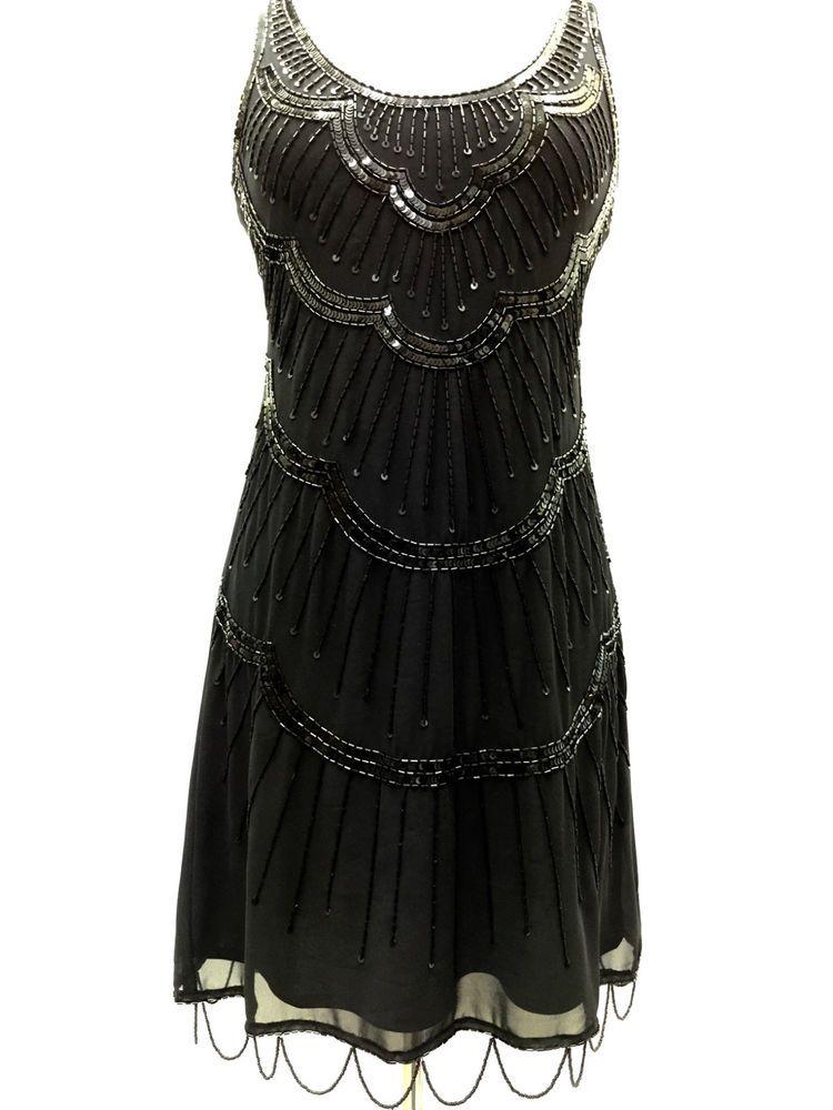 Black Vintage 1920s Flapper Gatsby