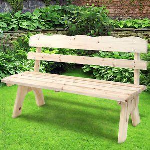 Banc de jardin banquette mobilier meuble siege canape bois parc terrasse balcon meubles - Banc de terrasse en bois ...