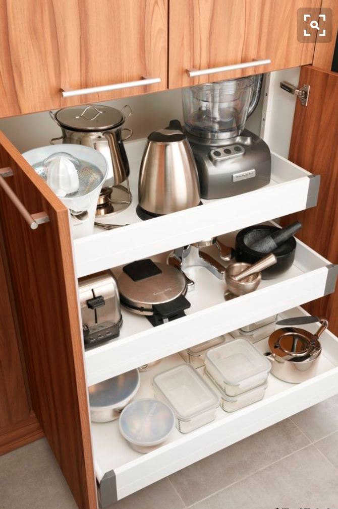 Delightful Kitchen Appliance Storage Ideas Part - 3: 42 Creative Appliances Storage Ideas For Small Kitchens - DigsDigs