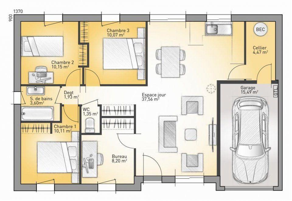 Plan maison neuve à construire - Maisons France Confort Optima 84 P - Logiciel Pour Dessiner Plan Maison Gratuit