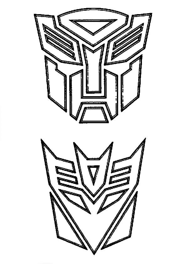 Free Coloring Pages Of Logo Of Decepticons Decepticon Logo