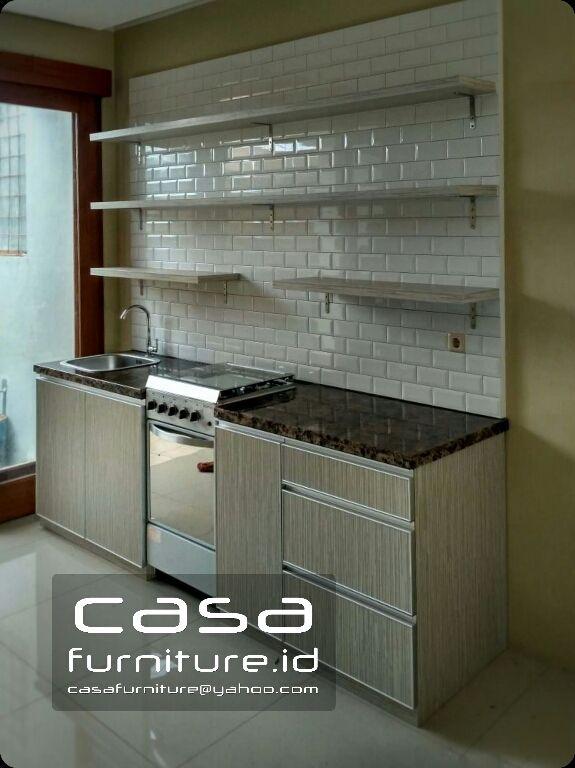 Kitchen Set Sederhana Minimalis Model Lurus Di Pondok Aren Tangerang Selatan Dekorasi Dapur Kabinet Dapur Lemari Dapur