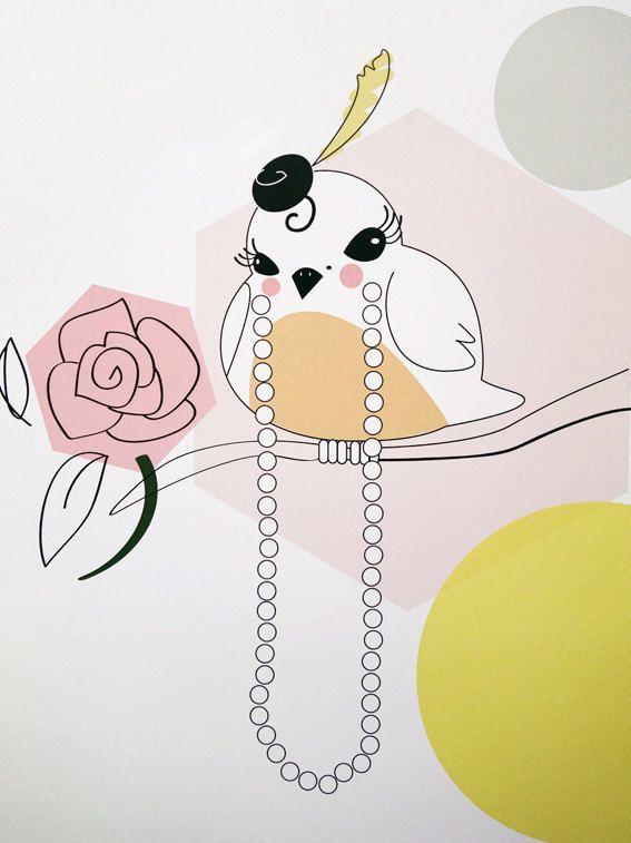 Mrs. Robin - digital art illustration by Ramalamb