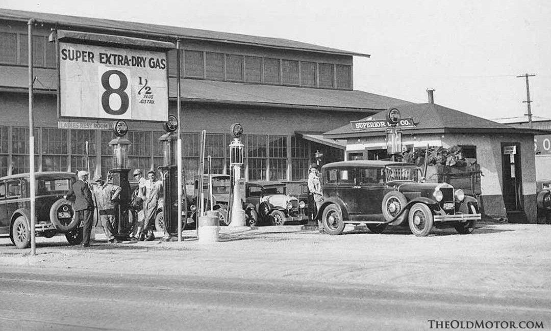 Circa 1930 Des Moines Iowa Old Vintage Gasoline