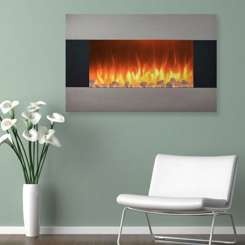 Northwest 36 in. Stainless Electric Wall Mount or Freestanding Fireplace - With the Northwest 36 in. Stainless Electric Wall Mount or Freestanding Fireplace you can put a beautiful and safe electric fireplace in any room,...