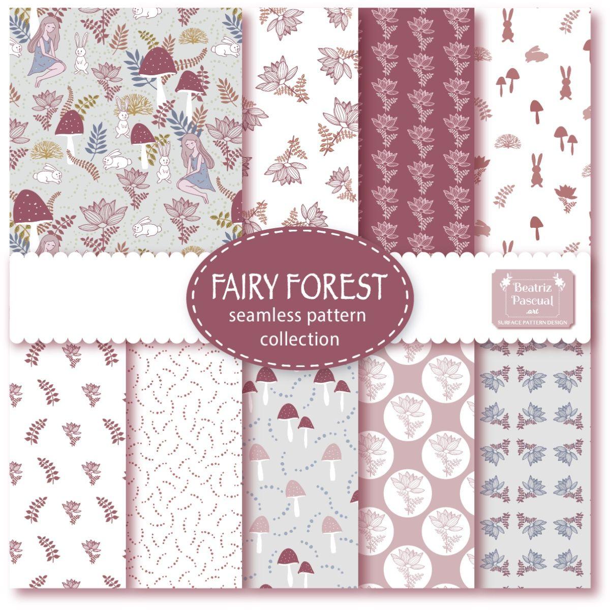 Colección de pattern florales y de fantasía, inspirado en bosques y hadas  #pattern #surfacepattern #vectorpatterns #patternslover #seamlesspatterns #repeatpattern