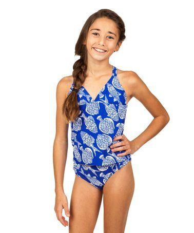 f810cc70c021f This Blue Calypso Cami Tankini - Girls by Raisins Girls is perfect!   zulilyfinds