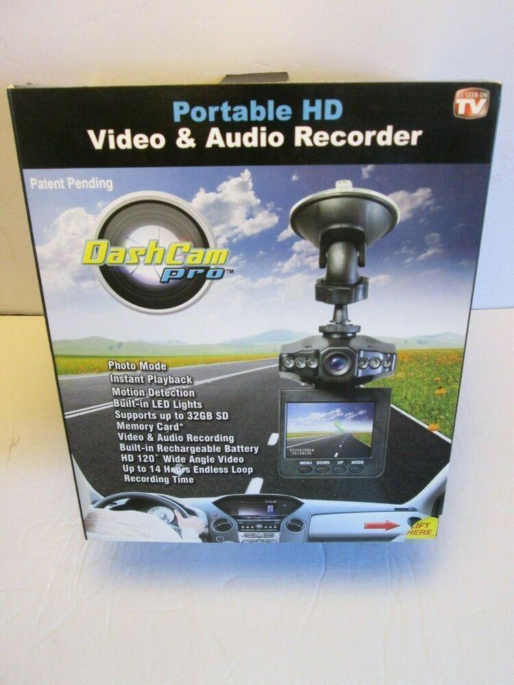 Dash Cam Pro As Seen On TV Black Portable HD Video//Audio Recorder
