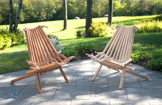 Folding Wood Patio Chairs.Pioneerchair Ash Mahogany Pair Original Deck Chair Wooden