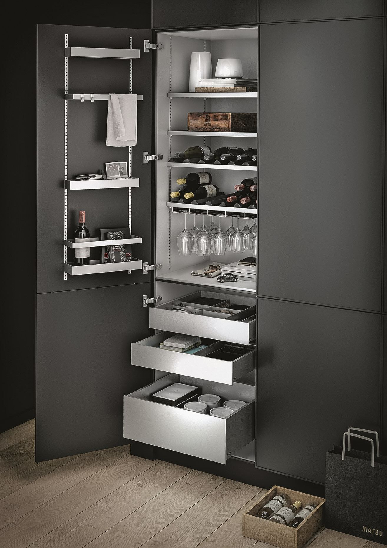 ALUMINIUM KITCHEN ACCESSORY MULTIMATIC BY SIEMATIC | DESIGN SPEZIELL ®