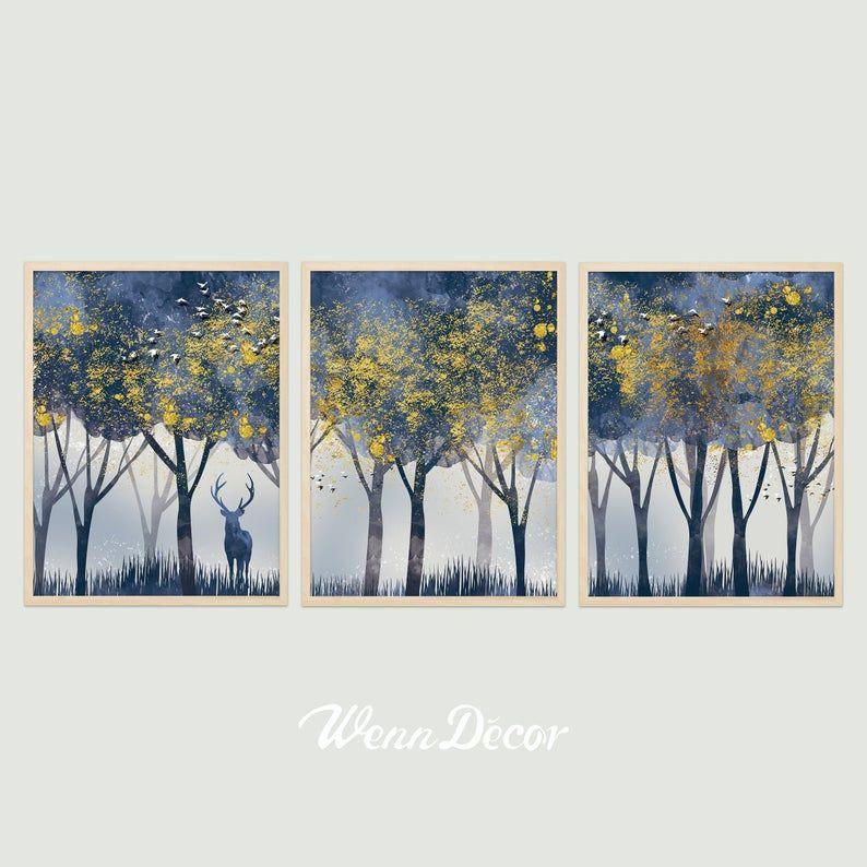 Set Of 3 Prints Abstract Print Modern Art Landscape Print Etsy In 2020 Digital Art Prints Prints Hanging Art