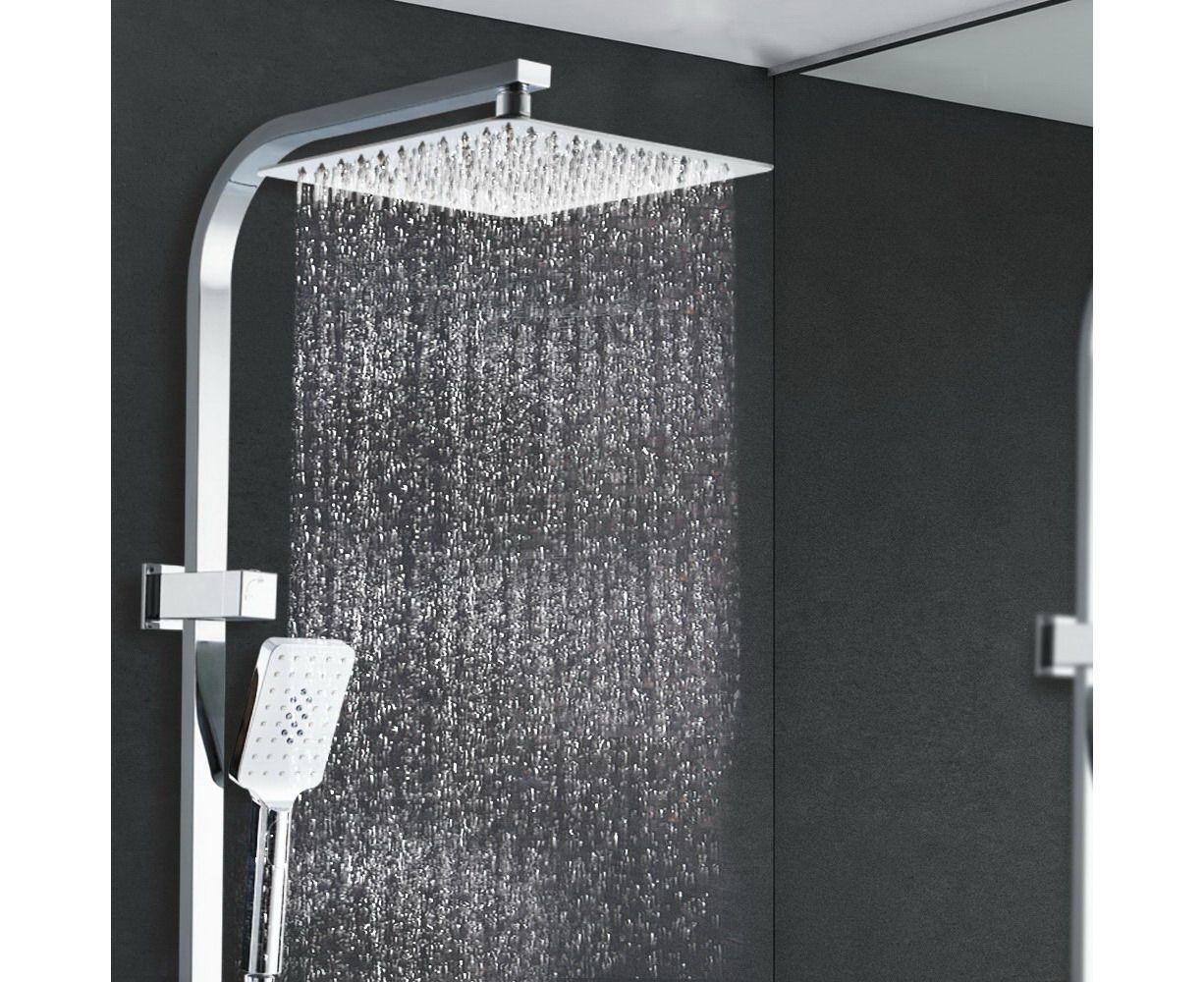 Cefito 10 Rain Shower Head Set Square Dual Heads Faucet High