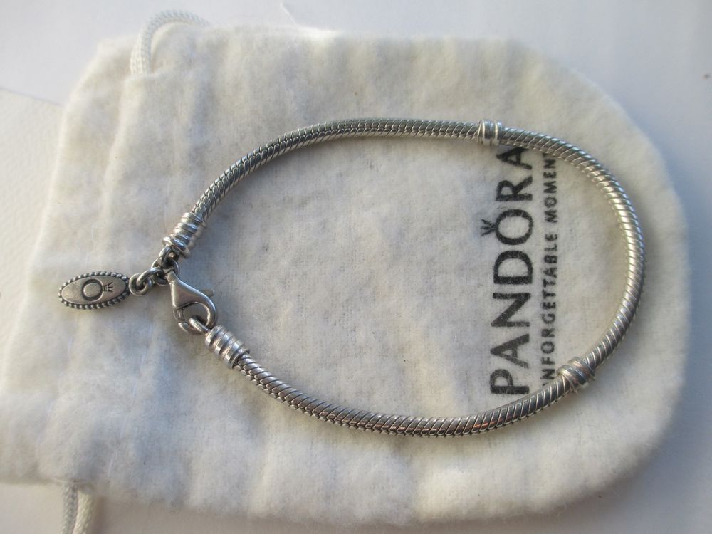 01d6f635c Authentic Pandora Sterling Silver Lobster Clasp Charm Bracelet 7.5  #Unbranded #NoSize