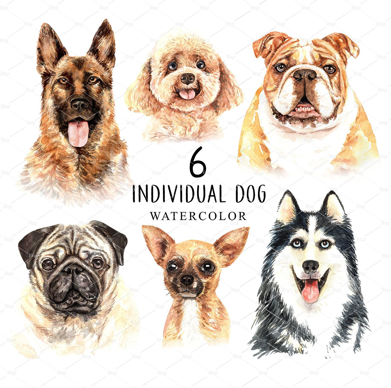 Dog Watercolor Clipart Pet Clip Arts Dog Cliparts Dog