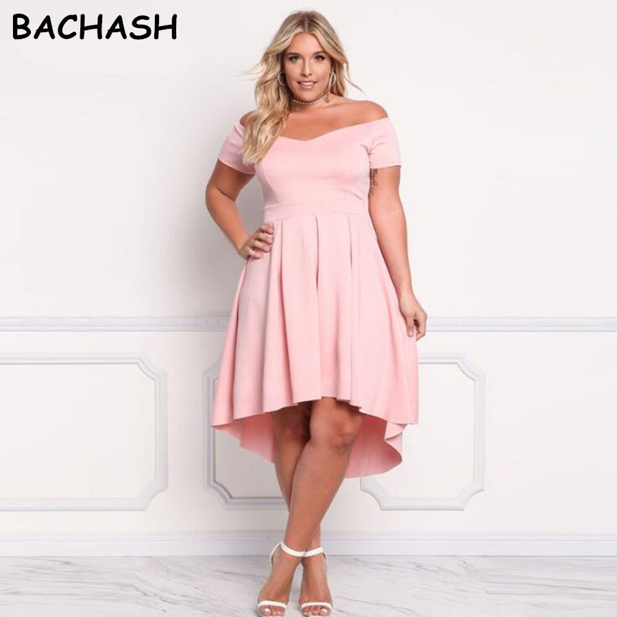 BACHASH 2017 Summer New Slash Neck Off Shoulder Asymmetrical Party ...