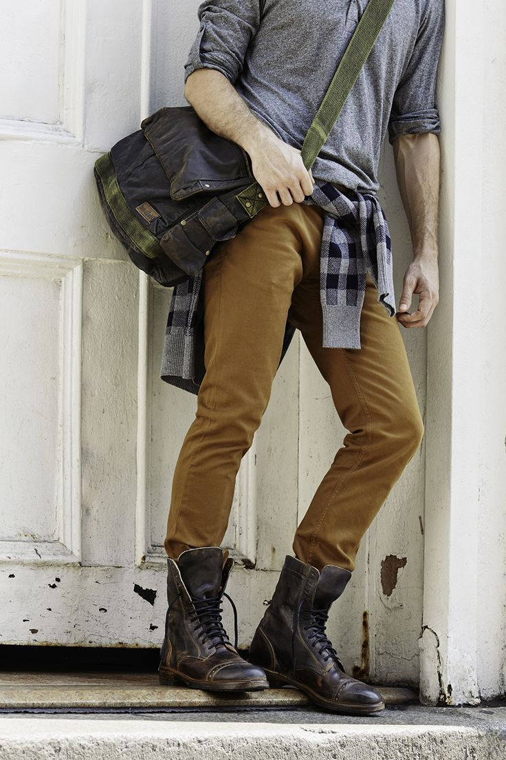 street style, vintage look, cool boots and bag #men #fashion #style #2015